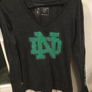 Tops - Norte Dame College Long Tee Small